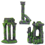 Moss-Covered-Roman-Ruin-Aquarium-Fish-Tank-Ornament-Decorations-Features thumbnail 1
