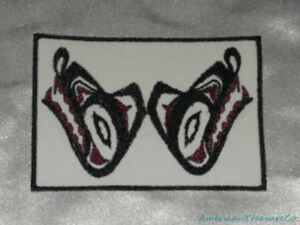 Embroidered Pacific Northwest Wildlife Art Red Frog Froggy Patch Iron On Sew USA