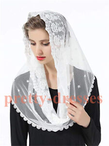 Floral-Embroided-Tulle-Lace-Mantilla-Veils-for-Church-HeadCover-Latin-Mass-Black