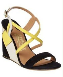 73b6b1f34e7 Image is loading BNWTB-100-Auth-Salvatore-Ferragamo-Runway-Florence-Wedges-