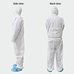 High Quality X-LARGE Protective Coverall Isolation Suit With Hood USA Stock
