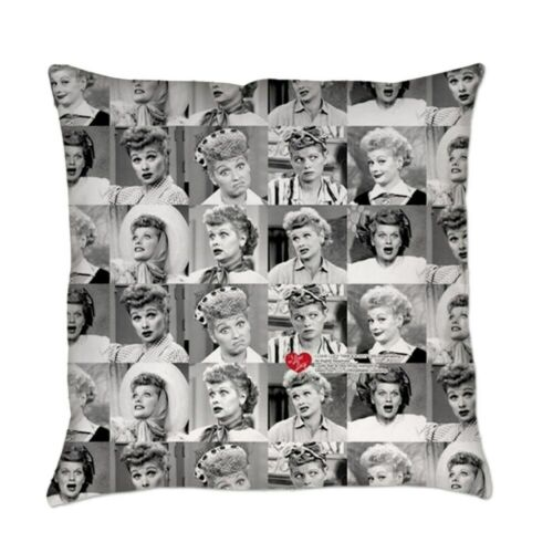 CafePress I Love Lucy Face Collage Everyday Pillow 138218025
