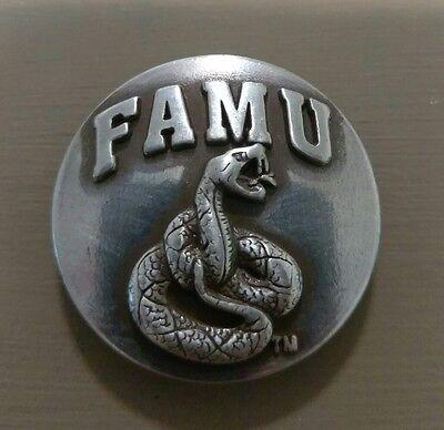 Lot of 5 FAMU Florida A/&M University Rattlers conchos w// screw back silver dip