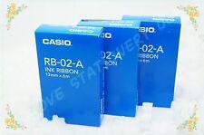 CASIO 3 PIECE ORIGNAL RB-02-A INK RIBBON Calculator RIBBON 13MM X 6M