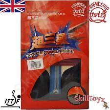 Friendship Super 3 Star Table Tennis Bat Racket plus 2 FREE Protectors! UK STOCK