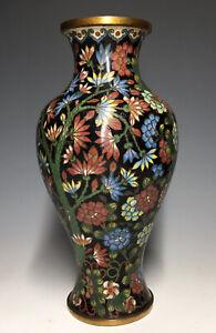 Rare-Antique-Chinese-Cloisonne-Gilt-Bottle-Vase-Qing-Enamel-Flower-Trees-Prunus