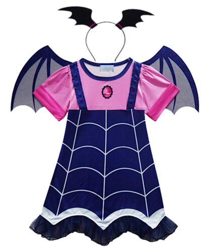 Simil Vampirina Vestito Carnevale Bambina Cosplay Costume Little Vampire VAMPG01