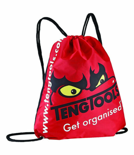 Teng Tools Red Polyester Draw String Bag Light Back Pack