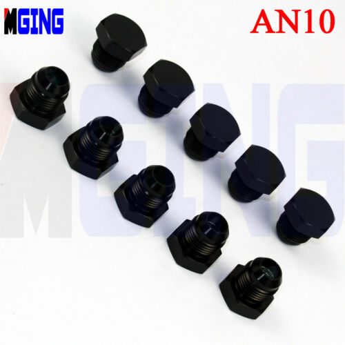Adapter Fuel Hose Tank Fitting Adaptor Male 10-AN AN-10 AN10 To One NPT Black