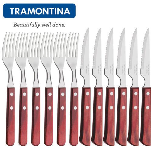 Tramontina ® Couteau à Viande-Fourchette-Set 12 Pièces Barbecue BBQ Ensemble couverts Espagnol Style