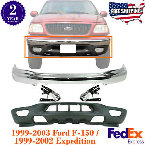 Front Chrome Bumper Valance For 1999 2003 Ford F 150 99 02 Expedition Ebay