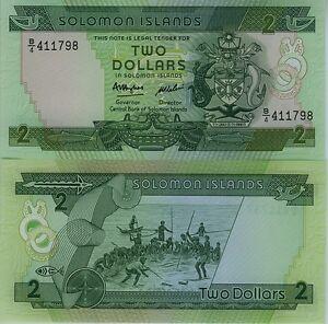 -inseln Von Solomon Geldschein Neu 2 Dollar Pick18 Peche Handarbeit Küsten- 1997 Komplette Artikelauswahl