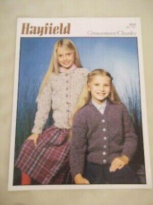Hayfield Knitting Pattern 9696 Cable Cardigans Multiple Designs Bonus Aran Tweed