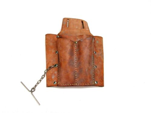 LEATHER 5-POCKET ELECTRICIAN/'S TOOL POUCH