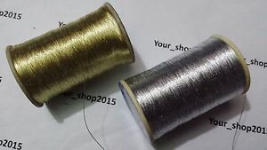 15-600-M-Metallic-Gold-Silver-Thread-Cross-Stitch-Embroidery-Cardmaking-dress