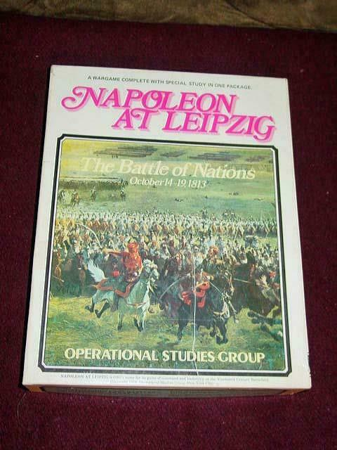 Clash of Arms - NAPOLEON at LEIPZIG game - The Battle of Nations (Punched)