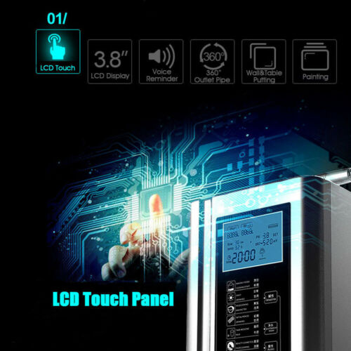 Alkaline Acid Water Ionizer Purifier Device Control LCD PH3.5-10.5 Washer Home