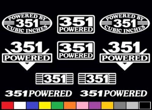 10 DECAL SET 351 CLEVELAND MODIFIED WINDSOR V8 POWERED EMBLEM STICKERS