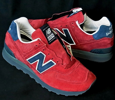 New Balance 574 Made In USA US574XAD Connoisseur Size 7 Red Navy Brand New