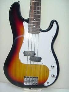 New-Full-Size-4-String-Electric-Bass-Guitar-with-Gig-Bag-Sunburst