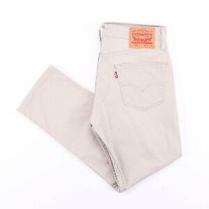 Vintage Levi's 511 Slim Coupe Droite Homme Beige Jeans W31 L27