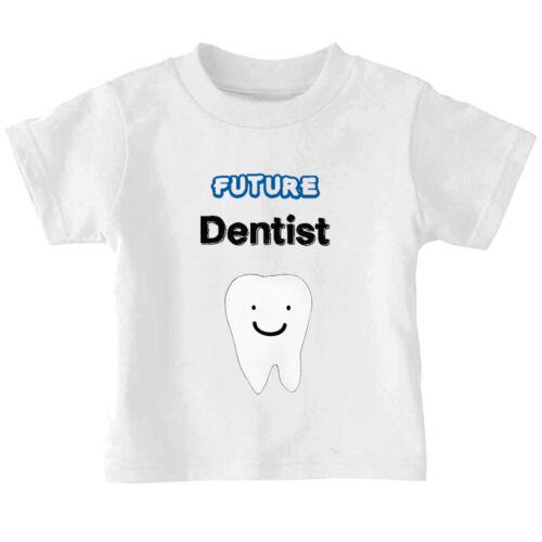 Future Dentist Smiling Tooth Cotton Toddler Baby Kid T-shirt Tee 6mo Thru 7t
