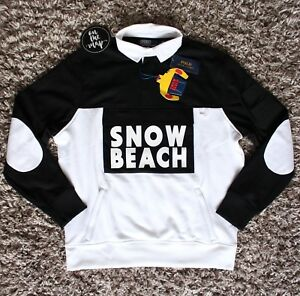 54a23ede745 Image is loading Polo-Ralph-Lauren-Snow-Beach-Rugby-Shirt-Sweatshirt-