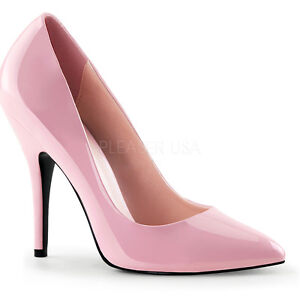 PLEASER Women's Sexy Light Baby Pink Pumps 5