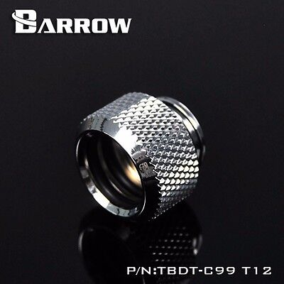 """1 Pcs BARROW docking fitting G 1/4"""" acrylic pipe 12mm joint water cooling-chrome"""