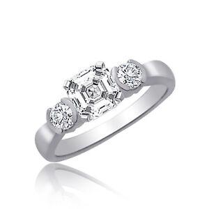 Impresionante-Asscher-Anillo-Compromiso-Corte-Diamante-2-30Ct