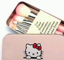 Brochas  de maquillaje profesionales de hello kitty set 7 piezas más caja