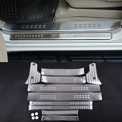 For Toyota Prado FJ150 2010-2019 Black titanium Car Door Sill Scuff Plate Trim