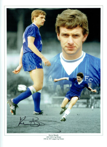 Kevin SHEEDY Signed Autograph 16x12 EVERTON Montage Photo AFTAL COA