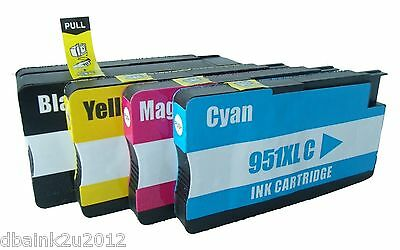 4 Pack For HP 950 XL 951 XL Ink For OfficeJet Pro 8100 8600 251dw 276dw Printer