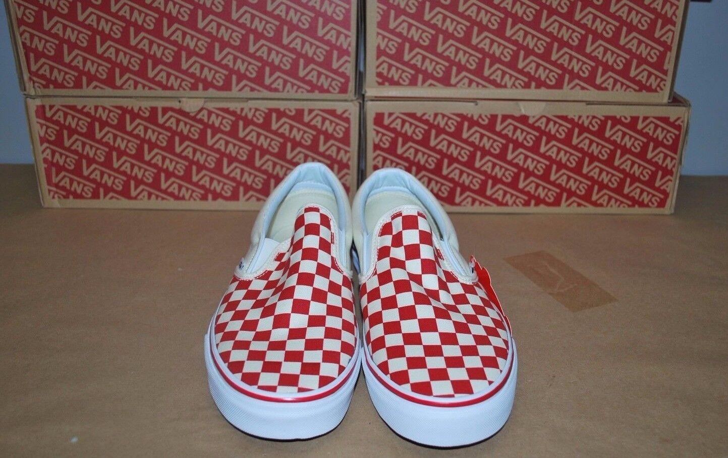 popolare Vans Classic Slip-On 'Primary 'Primary 'Primary Check' Checkerboard rosso VNOA38F7P0T Uomo - Sz 11.5  di moda