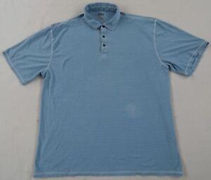 Pronto-Uomo-Blue-Men-039-s-Short-Sleeve-Light-Blue-Polo-Shirt-Size-2XLT-Tall