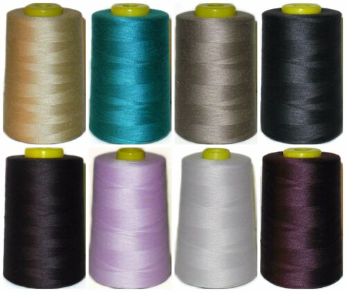 ART VG1 120s SEWING THREAD 100/% SPUN POLYESTER 5000 YRDS X4 CONES VARIOUS COLS