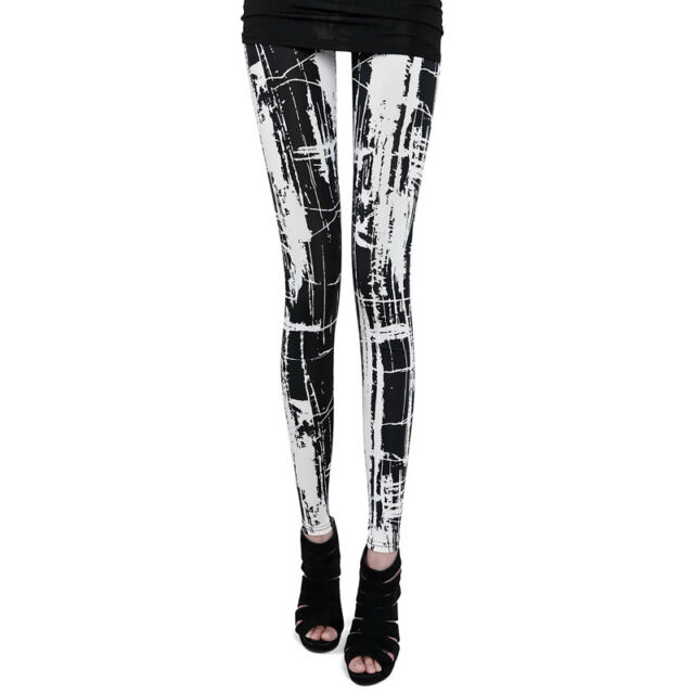 Punk Gothic Rock Kera Visual kei Japan Fashion Womens Leggings Good Elastic T01