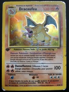Détails Sur Carte Pokemon Dracaufeu 4102 Holo Set De Base Wizard Edition 1 Fr