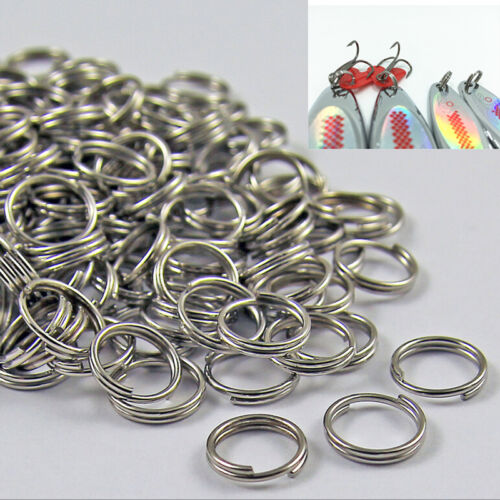 50//100 X Edelstahl Split Ring Blank Köder Angeln Connector Köder Ring  ·u B sg