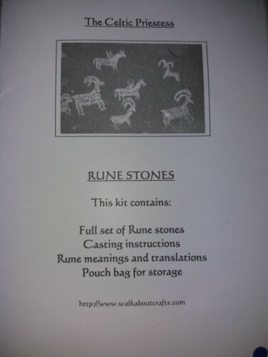 Brand new Sealed Green Celtic Rune Stones from Autumn a Genuine Celtic Priestess