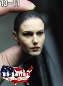 "1//6 American Female Head Sculpt Black Hair For 12/"" Hot Toys PHICEN Figure ❶USA❶"