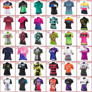 Womens Cycling Short Sleeve Jersey Summer Team Bike shirt bicycle Sports Uniform