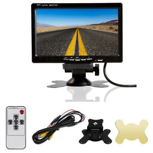 7-034-TFT-LCD-Color-2-Video-Input-DVD-VCR-DVR-Headrest-Car-Auto-Rear-View-Monitor