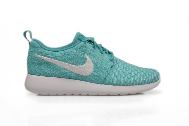 Mujeres Nike Rosherun Flyknit - 704927 300-Sport Entrenadores Turquesa