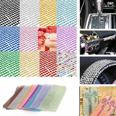 504pcs 6mm DIY Self Adhesive Rhinestone Crystal Bling Sticker phone Car Nail Art
