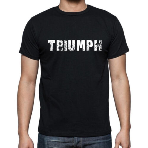 triumph Cadeau Herren Tshirt Schwarz Geschenk Hommes Tshirt Noir