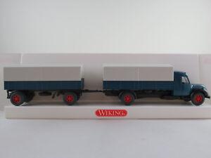 Wiking-85503-Magirus-S-7500-Pritschen-Lastzug-1955-in-azurblau-1-87-H0-NEU-OVP