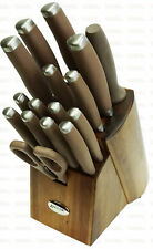 Anolon SureGrip 17-Piece Japanese Stainless Kitchen Knife Block Set
