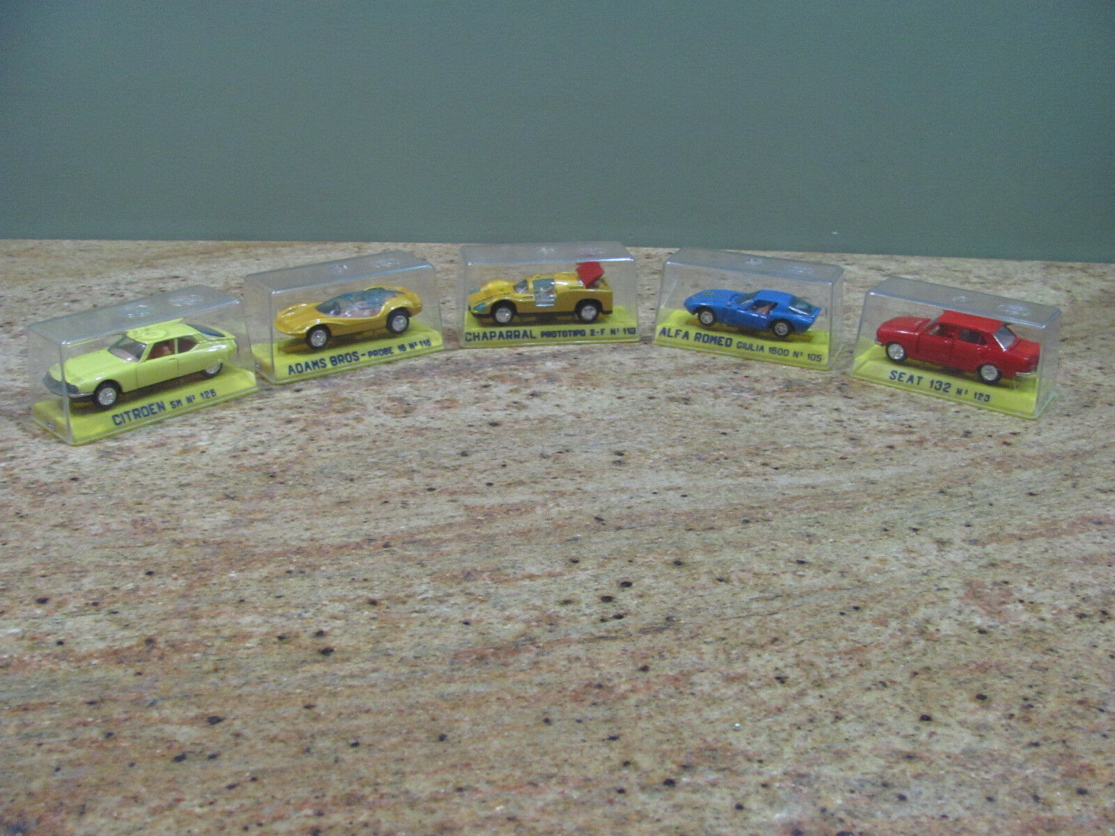 5 Vintage Joal Miniature Cars Made in Spain 1 43 Scale Incl. Alfa Romeo,USC